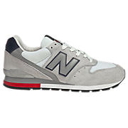 New Balance 996, Grey with Blue & Red