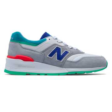 New Balance 997 Coumarin Pack, Grey with Deep Ozone Blue & Vivid Blue