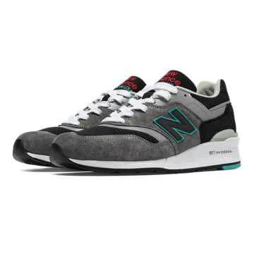 New Balance 997 Rockabilly, Grey with Black & Silver