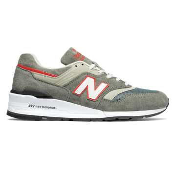 New Balance 997 Age of Exploration, Grey with Orange