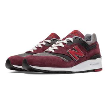 New Balance 997 Heritage, Burgundy with Grey & Dark Grey