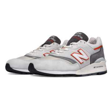 New Balance 997 Explore by Sea, Grey with Orange