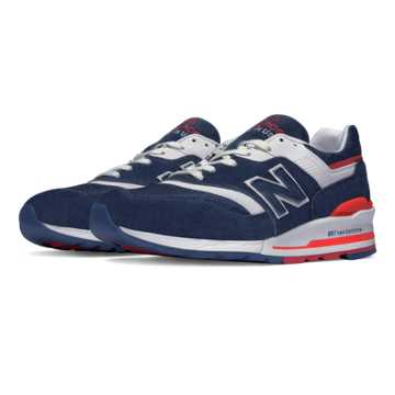 New Balance 997 Explore by Air, Navy with Red