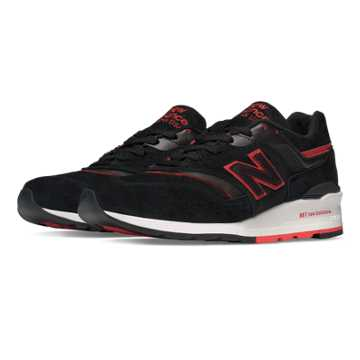New Balance 997 Explore by  Air, Black with Red