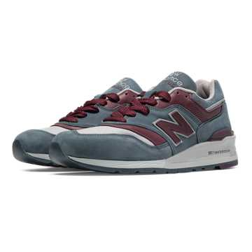 New Balance 997 Distinct Mid-Century Modern, Grey with Maroon