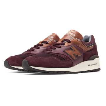 New Balance 997 Distinct Retro Ski, Burgundy with Cathay Spice