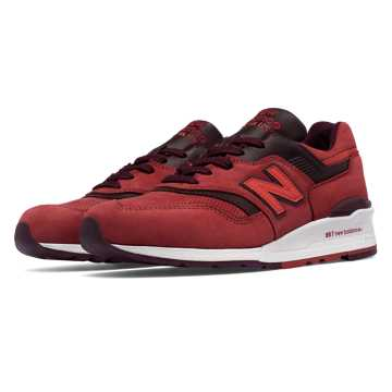 New Balance 997 New Balance, Clay Red with Burgundy