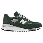New Balance 998, Hunter Green with White