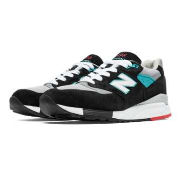 New Balance 998 Rockabilly, Black with Grey & Bolt