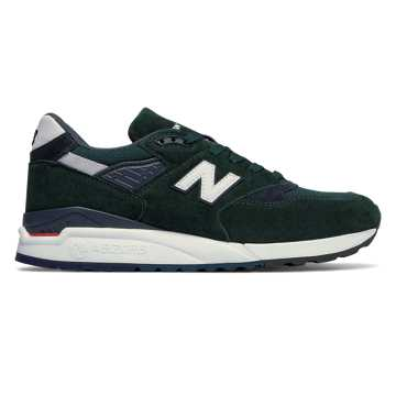 New Balance 998 Age of Exploration, Dark Green with Navy