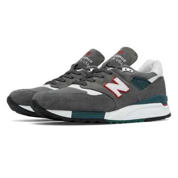 New Balance 998 New Balance, Grey with Red