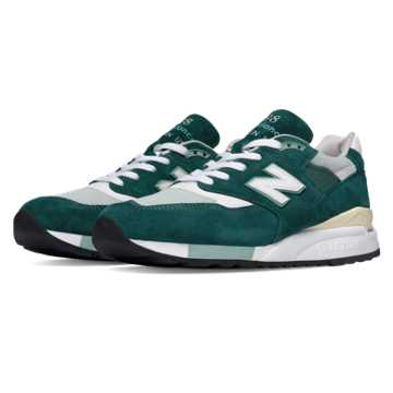 New Balance 998 Explore by Sea, Green with Off White