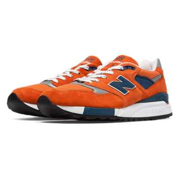 New Balance 998 Connoisseur East Coast Summer, Orange with Navy & Silver
