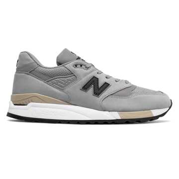 New Balance 998 Nubuck, Light Grey with Black
