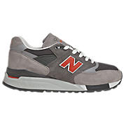New Balance 998, Grey with Orange
