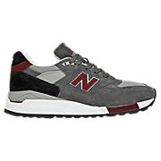New Balance 998, Grey with Red & Black