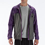 Windcheater Jacket, Loganberry with Asphalt