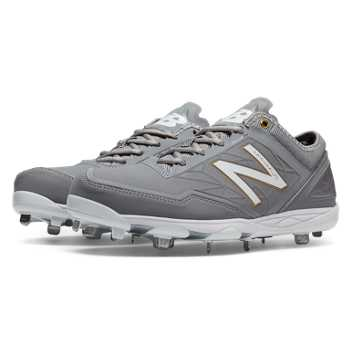 New Balance Low-Cut Minimus Metal Cleat, Grey