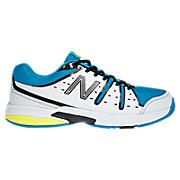 New Balance 656, White with Blue & Yellow