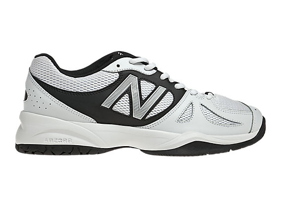 New Balance 696, White with Black & Silver