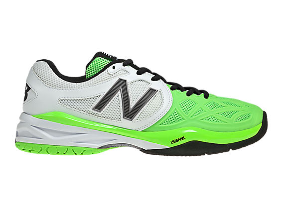 New Balance 996, White with Neon Green & Black