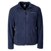 Micropolar Fleece Jacket, Navy with White