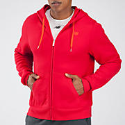Essentials Zip Up Hoodie, Tango Red with Tangerine