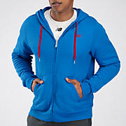 Essentials Zip Up Hoodie, Vision Blue with Biking Red