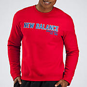 Essentials Core Fleece Sweat, Red with Blue