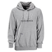 Essential Pullover Hoodie, Athletic Grey with White