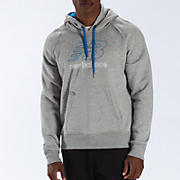 Essential Pullover Hoodie, Grey with Blue