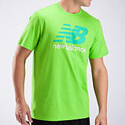 Large Graphic Logo Tee, Jazz Green