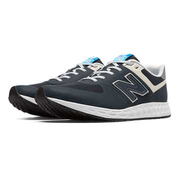 New Balance 574 Fresh Foam Heritage, Navy Blue with White