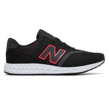 New Balance 574 Fresh Foam, Black with Pink