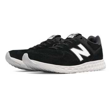 New Balance 574 Fresh Foam Suede, Black with White