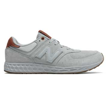 New Balance 574 Fresh Foam, Grey with Brown