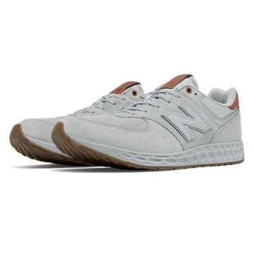 New Balance 574 Fresh Foam, Grey with Brown