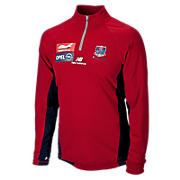 Sweat Top 1/4 Zip, Red