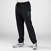 Tech Fleece Pant, Black with Hi-Vis Yellow