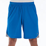 Momentum Training Short, Vision Blue with Silver Filigree