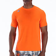 Short Sleeve Tech Tee, Orange Flash