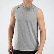 Sleeveless Tech Tee, Athletic Grey