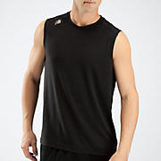 Sleeveless Tech Tee, Black
