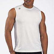 Sleeveless Tech Tee, White