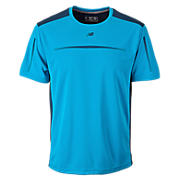 Align Short Sleeve Top, Kinetic Blue with Black