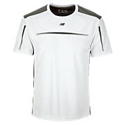 Align Short Sleeve Top, White with Black