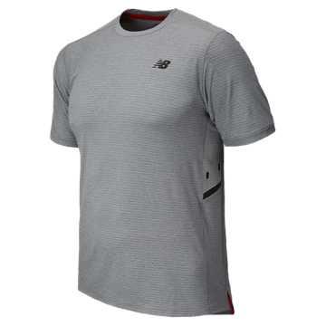 New Balance Shift Short Sleeve Top, Athletic Grey
