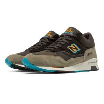 New Balance 1500 Made in UK Mid-Cut, Brown with Orange