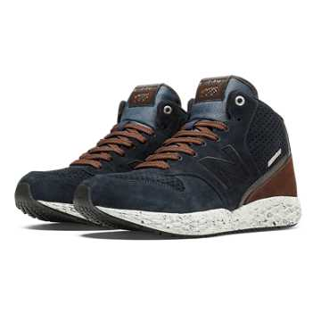 New Balance 988 Fresh Foam Mid-Cut, Blue Graphite with Brown