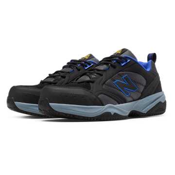 New Balance Steel Toe 627 Suede, Black with Pacific
